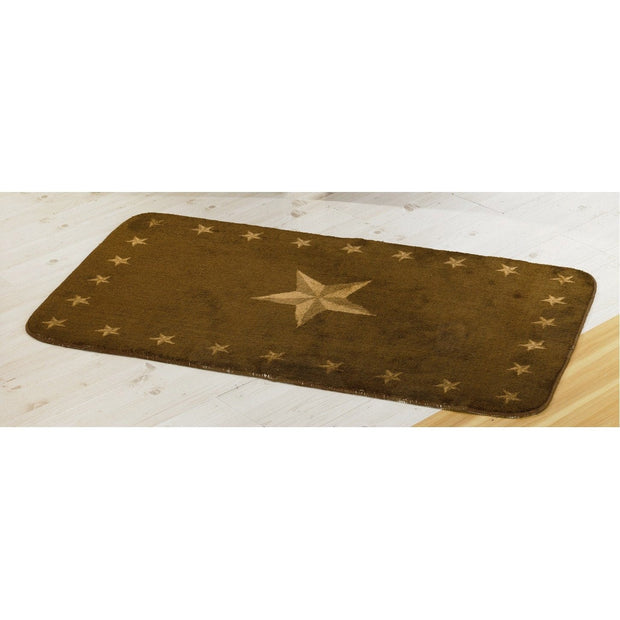 Dark Chocolate Star Kitchen/Bath Rug (2 Sizes)