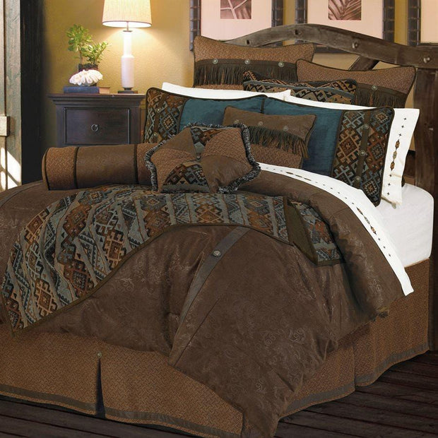 Del Rio 5-PC Comforter Set, Blue & Brown