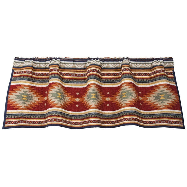 Del Sol Kitchen Valance w/ Aztec Design
