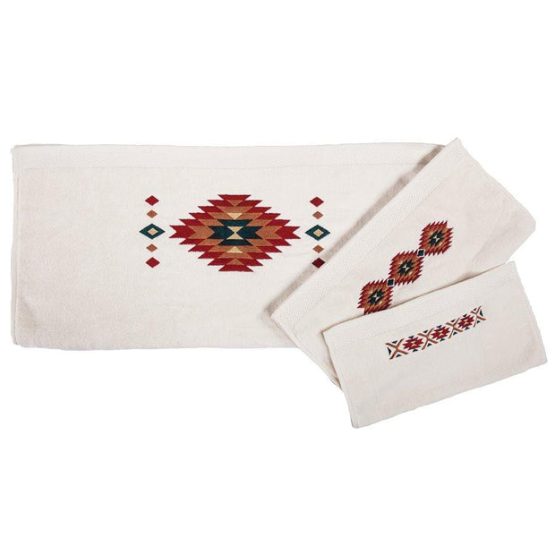 Del Sol Southwestern 3-PC Bath Towel Set, Cream