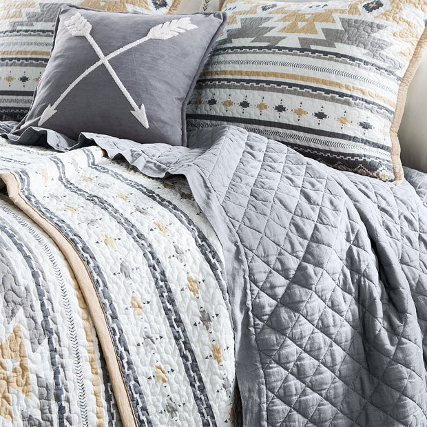 Desert Sage 3 PC Reversible Quilt Set