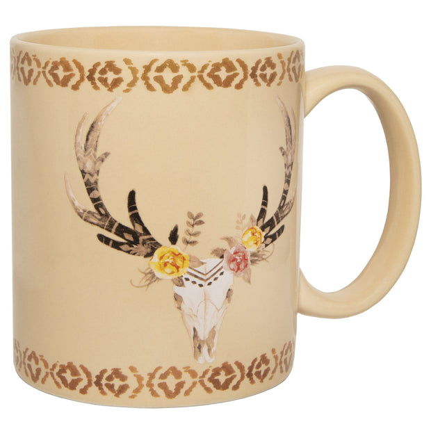 Desert Skull Bohemian 4-PC Coffee Mug Set