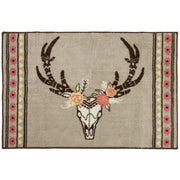 Desert Skull Floral Kitchen/Bath Rug