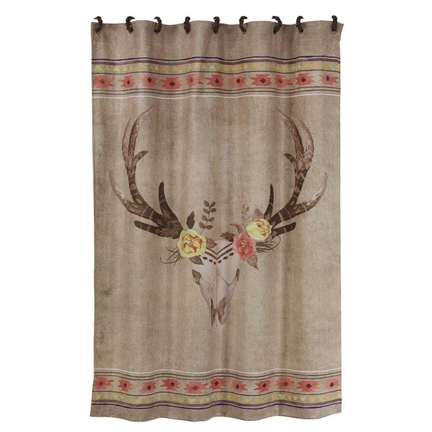 Desert Skull Southwestern Shower Curtain