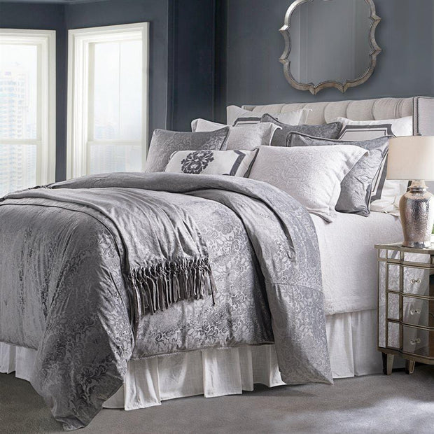 Diane 3-PC Embossed Velvet Comforter Set, Gray