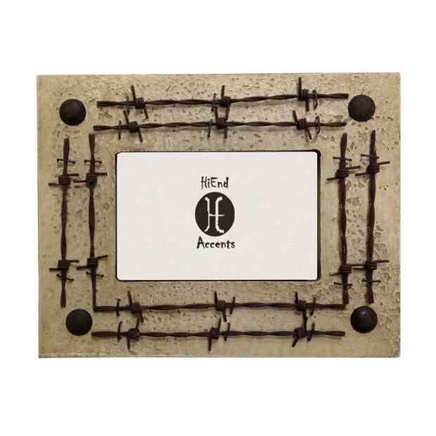 Double Barbwire Picture Frame, 4x6 (3 Colors)