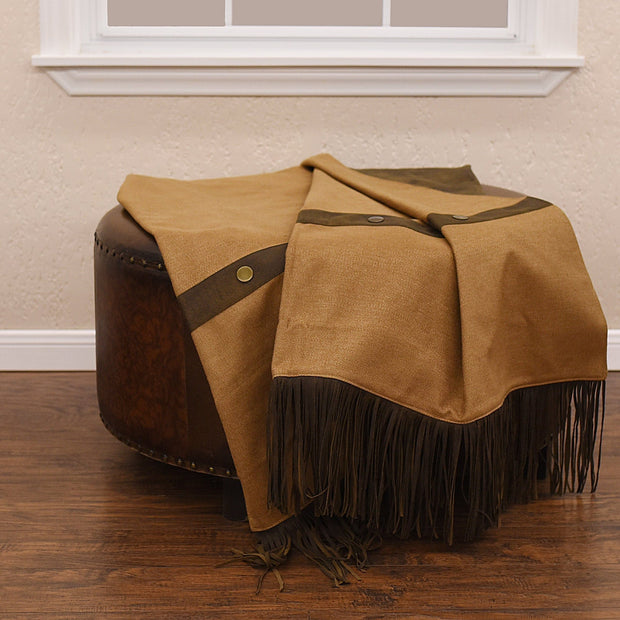 Durango Faux Suede Throw Blanket, 50x60