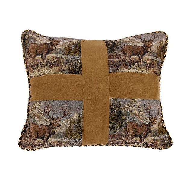 Elk Cross Pillow, 18x15