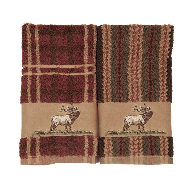Elk Embroidered 3-PC Bath Towel Set, Stripe