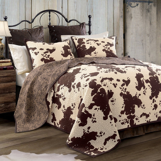 Elsa 3 PC Cowhide Reversible Quilt Set