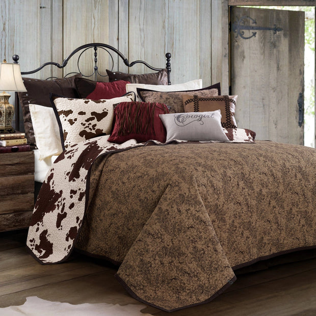 Elsa Cowhide Reversible Quilt Set