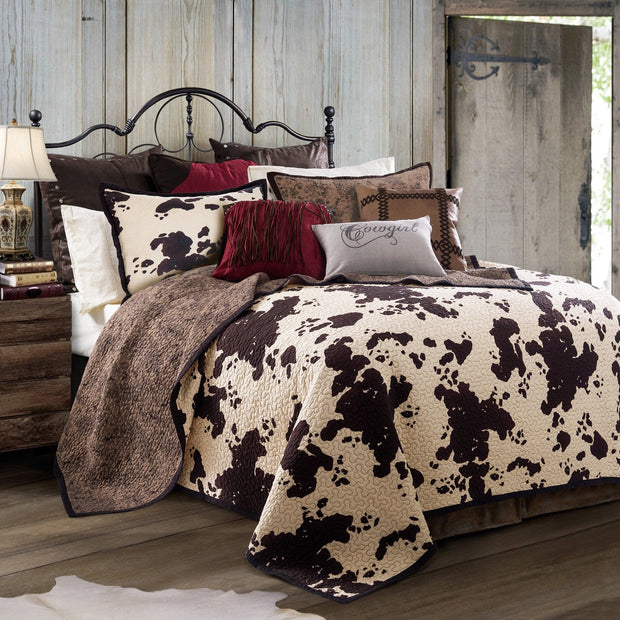 Elsa 3-PC Cowhide Reversible Quilt Set
