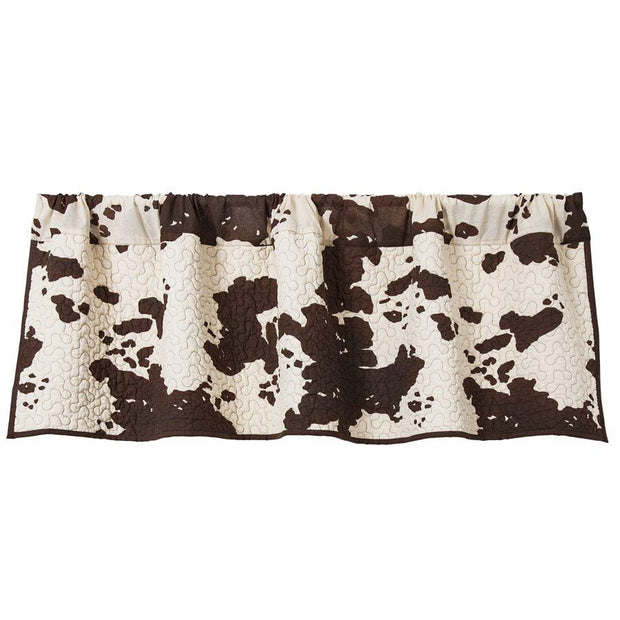 Elsa Quilted Kitchen Valance w/ Cowhide Print
