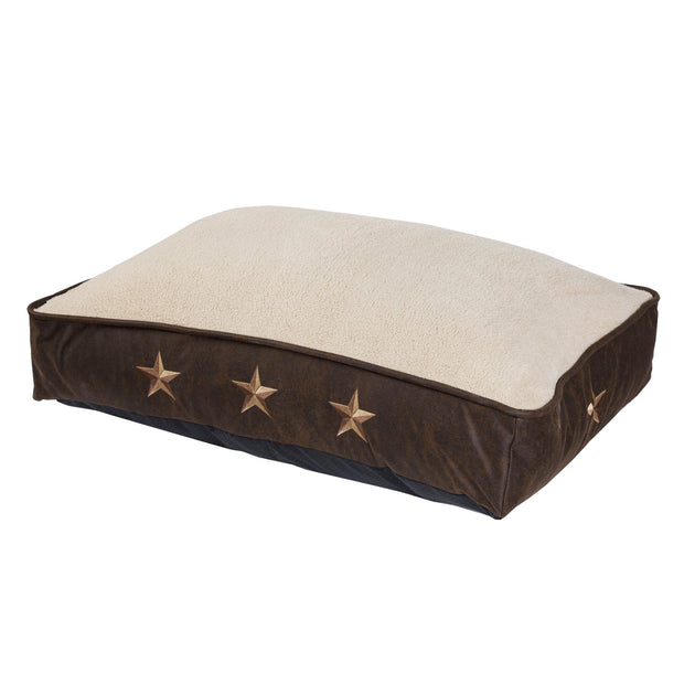 Embroidered Star Dog Bed