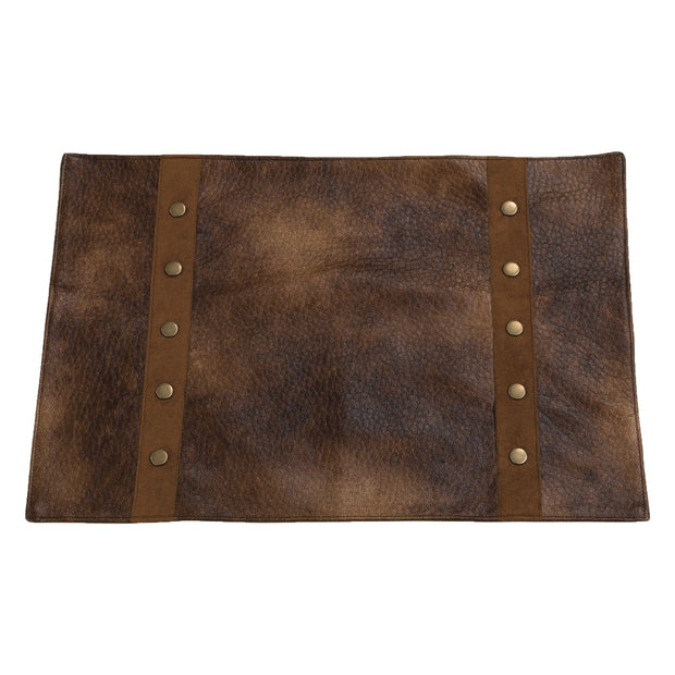 Studded Faux Leather 4PC Placemat Set