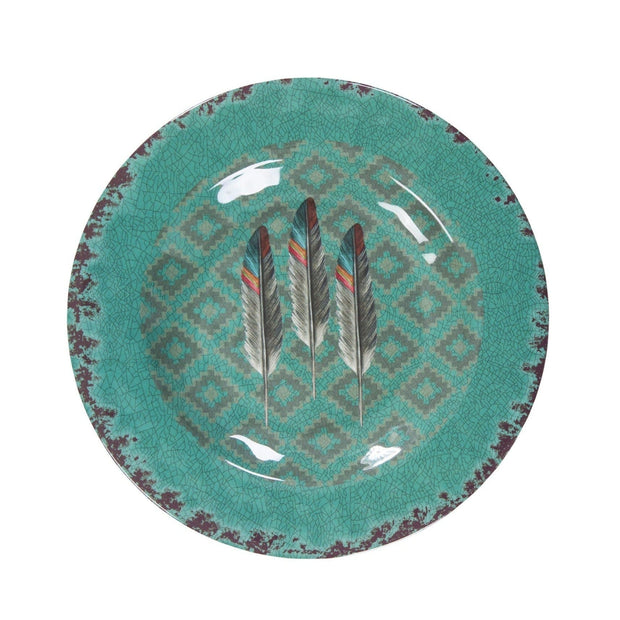 Feather Southwestern 25-PC Melamine Dinnerware Set