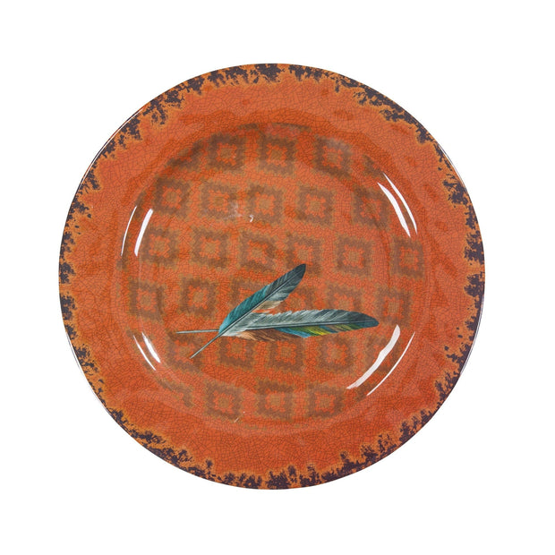 Feather 4-PC Melamine Dinner Plate Set