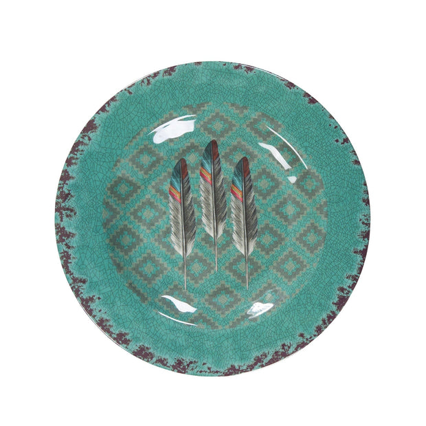 Feather 4-PC Melamine Salad Plate Set