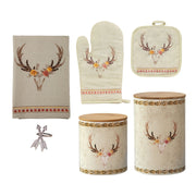 Skull/ Floral Print and Design Canister 18 PC Set