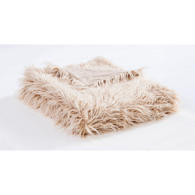 Mongolian Faux Fur Throw Blanket (6 Colors)