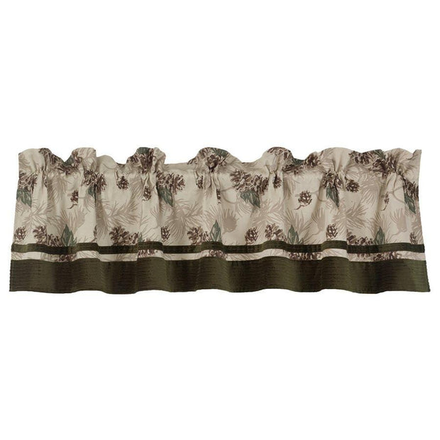 Forest Pine Beige, Brown & Green Kitchen Valance