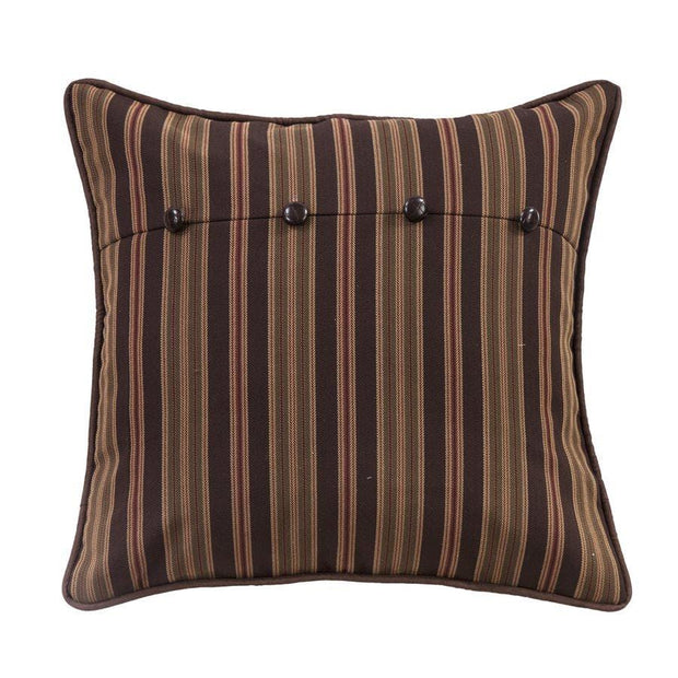 Forest Pine Stripe Euro Sham - Brown, Tan, Olive & Burgundy