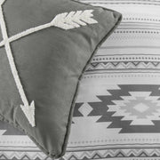 Free Spirit 4-PC Bohemian Bedding Set (Gray/White)