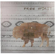 Free Spirit Aztec Buffalo Canvas Southwestern Wall Art