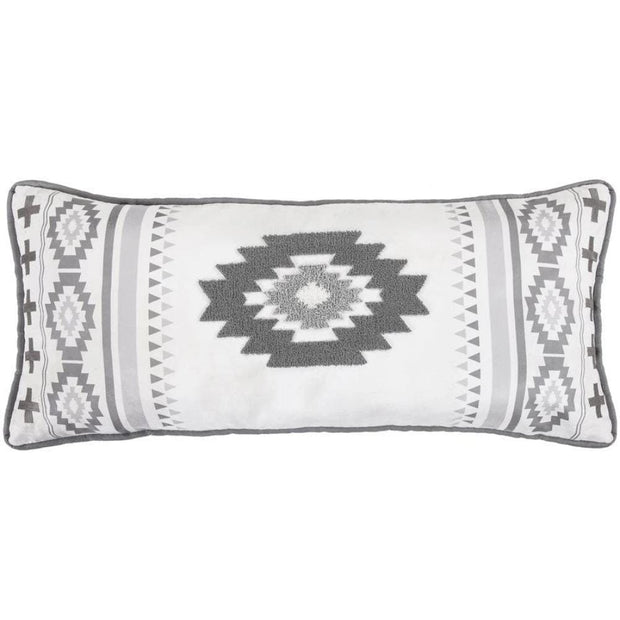 Free Spirit Gray Lumbar Pillow