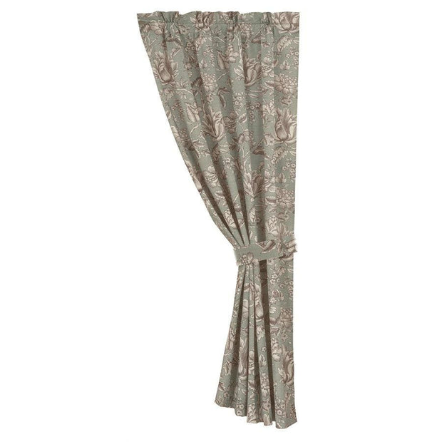 Gramercy Jacobean Floral Single Panel Curtain w/ Tieback