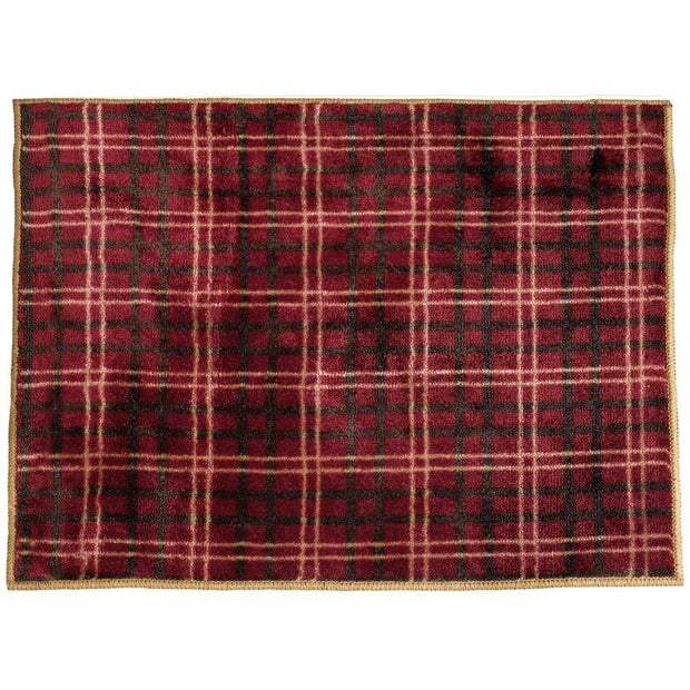 High Country Red Plaid Western Kitchen/Bath Rug