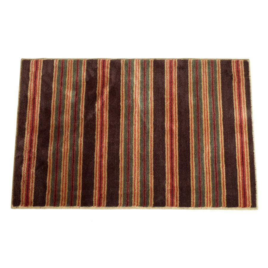 High Country Striped Western Kitchen/Bath Rug