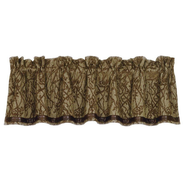 Highland Lodge Tan & Brown Branches Motif Kitchen Valance