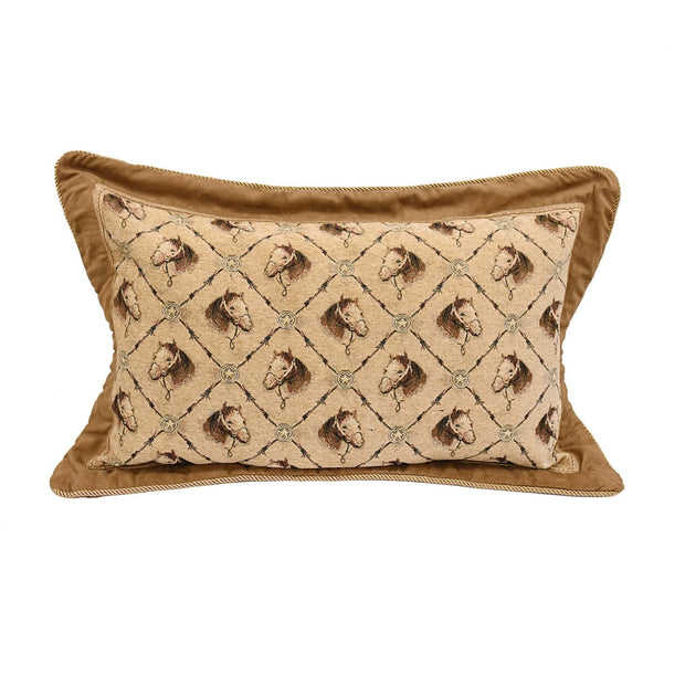 Horse Head Western Pillow Sham, King/Queen