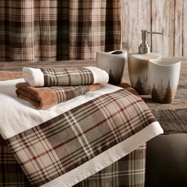 Huntsman Plaid 3-PC Bath Towel Set, Mocha