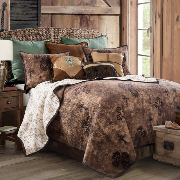 Ironwork 3-PC Reversible Quilt Set (Full/Queen)