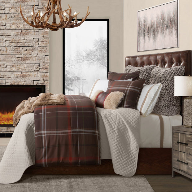 3 PC Jackson Plaid Comforter Set