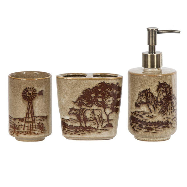 Jasper 3-PC Bath Countertop Accessory Set