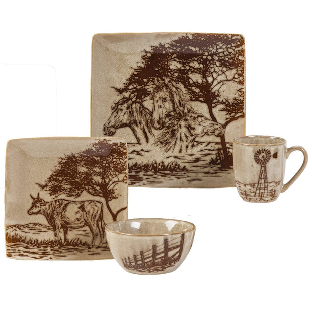 Jasper Country-Style 16-PC Dinnerware Set