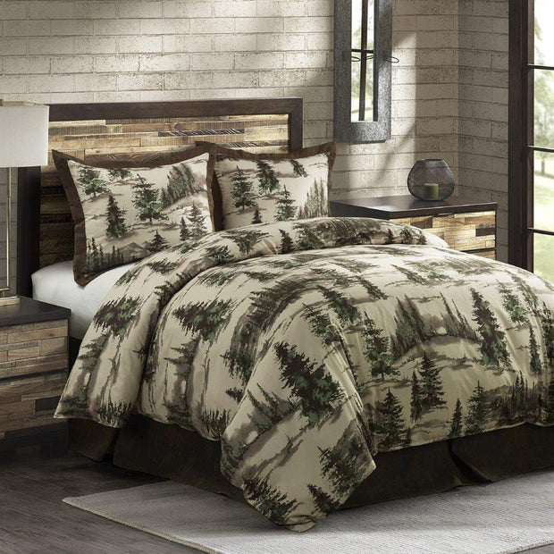 Joshua 3-PC Bedding Set, Green & Cream