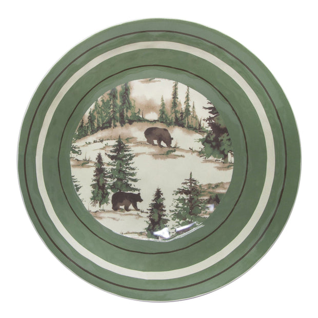 Joshua Lodge-Style 4-PC Melamine Dinner Bowl Set