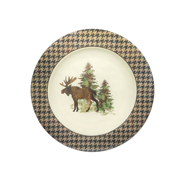 Joshua Lodge-Style 4-PC Melamine Dinner Plate Set