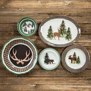Joshua Lodge-Style 4-PC Melamine Salad Plate Set