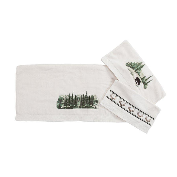 Joshua Rustic 3-PC Bath Towel Set, Cream