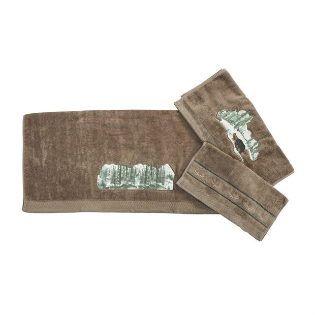 Joshua 9 PC Bath Accessary and Mocha Towel Set