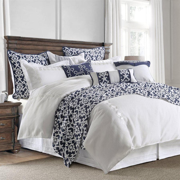 Kavali White 4-PC Linen Comforter Set, Super King