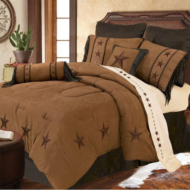 Laredo Comforter Set, Tan, Twin