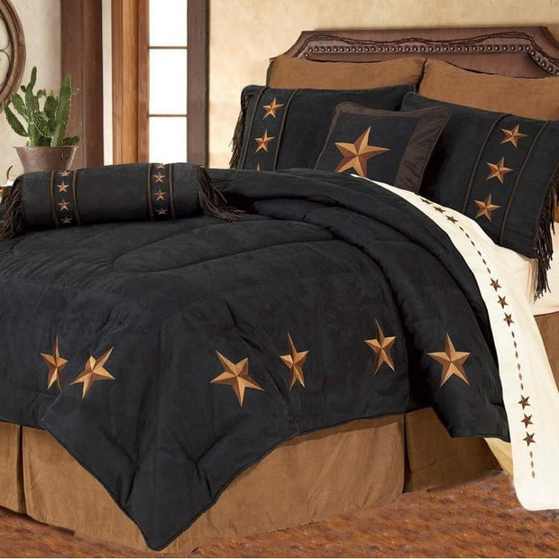 Laredo Black Star Comforter Set, Full