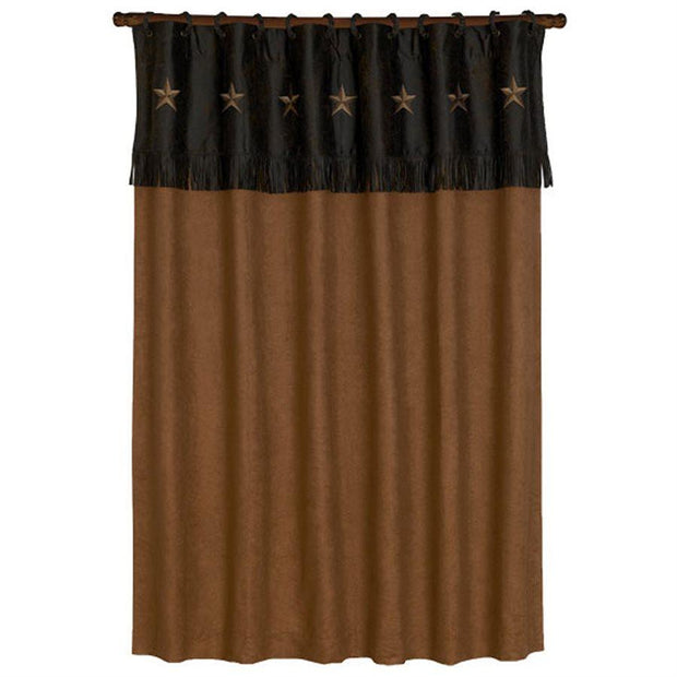 Laredo Shower Curtain, Tan Stars