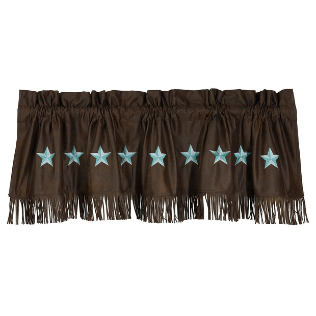 Laredo Turquoise Star Kitchen Valance